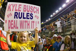 5 year old Harper Stiner from Jacksboro, TN shows her support for Kyle Busch