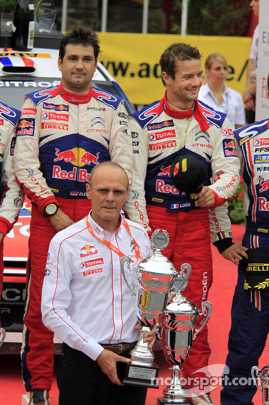 Podium: Citroën Total World Rally Team director Olivier Quesnel