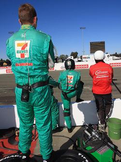 Andretti Autosport pit area