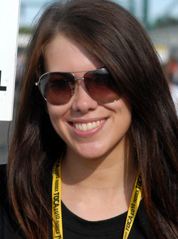 Sophie Fisher; grid girl to James Nash