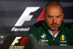 Vrijdag persconferentie: Mike Gascoyne, Lotus F1 Team, Chief Technical Officer