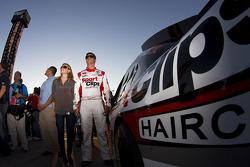 Pole sitter Denny Hamlin, Joe Gibbs Racing Toyota