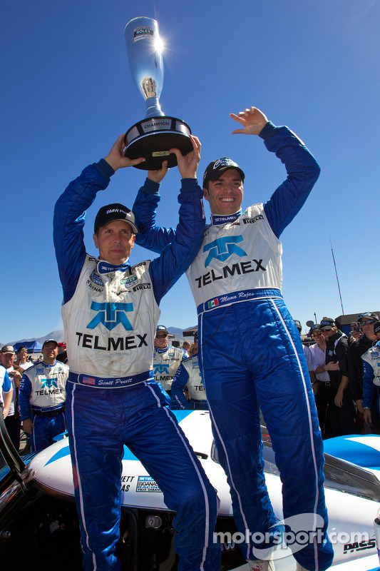 Race winnaars en 2010 Grand Am Rolex Series kampioenen Scott Pruett en Memo Rojas