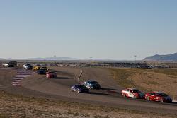 #55 Marren Motor Sports Inc. Honda Civic SI: Joe Toussaint leads a group of cars during a restart
