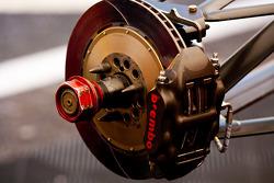 The brake disk on Alexander Rossi car