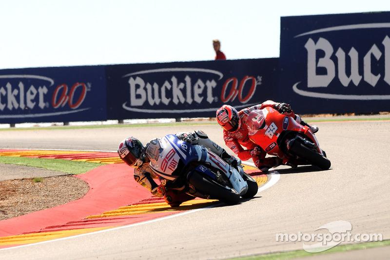 Jorge Lorenzo, Fiat Yamaha Team et Nicky Hayden, Ducati Marlboro Team