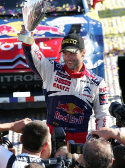 Podium: Sébastien Loeb and Daniel Elena, Citroën C4, Citroën Total World Rally Team