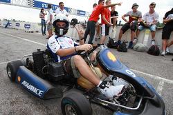 Pre-event go-kart: Alessio 'Uccio' Salucci