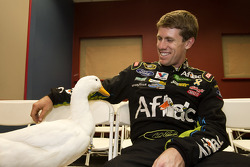 Carl Edwards, Roush Fenway Racing Ford with the Aflac duck
