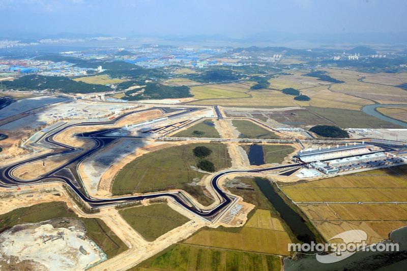 Circuitos: Malásia, Coreia do Sul (foto) e Índia faziam parte do calendário. O GP da Alemanha daquele ano foi realizado em Nürburgring.