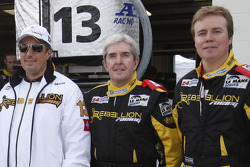 Hugh Hayden poses with Rebellion Racing team