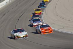 Greg Biffle, Roush Fenway Racing Ford and Joey Logano, Joe Gibbs Racing Toyota