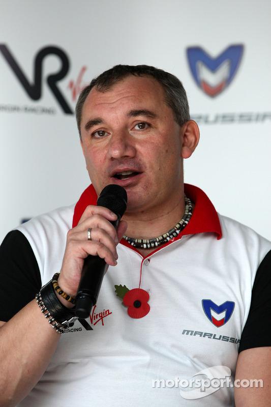 Nikolay Fomenko Marussia Motors President, persconferentie Marussia Virgin
