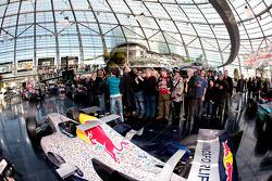 A Red Bull Racing car and Sebastian Vettel