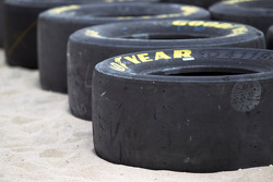 NASCAR Championship drive event in South Beach: Goodyear tires on the beach