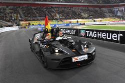 Michael Schumacher and Sebastian Vettel for Team Germany