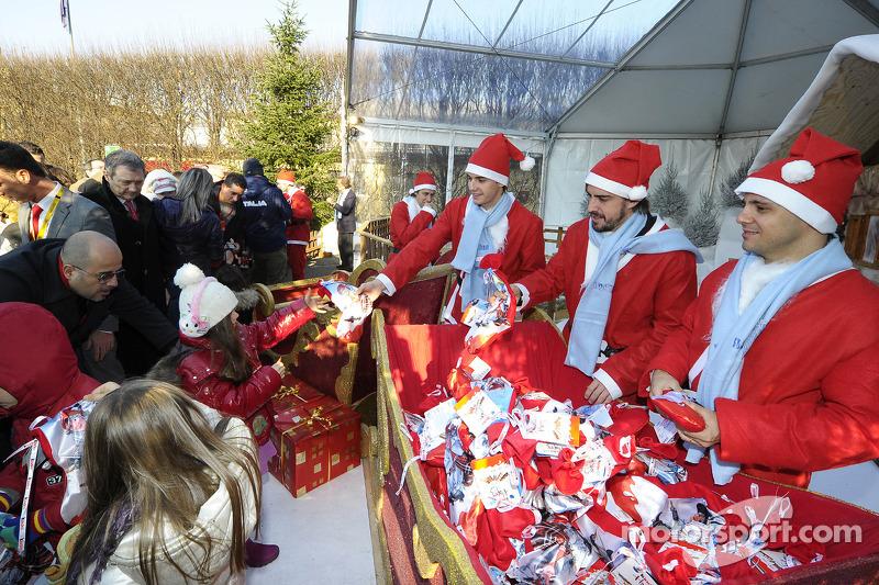 Evento Natale Bimbi: Felipe Massa, Fernando Alonso, Jules Bianchi