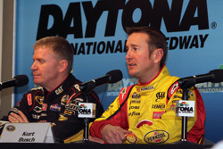 Jeff Burton and Kurt Busch answer media questions