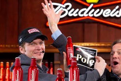 Dale Earnhardt Jr., Hendrick Motorsports Chevrolet draws the pole winning bottle