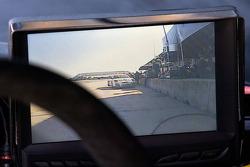 #002 Extreme Speed Motorsports Ferrari F458 GTC inside rear view monitor