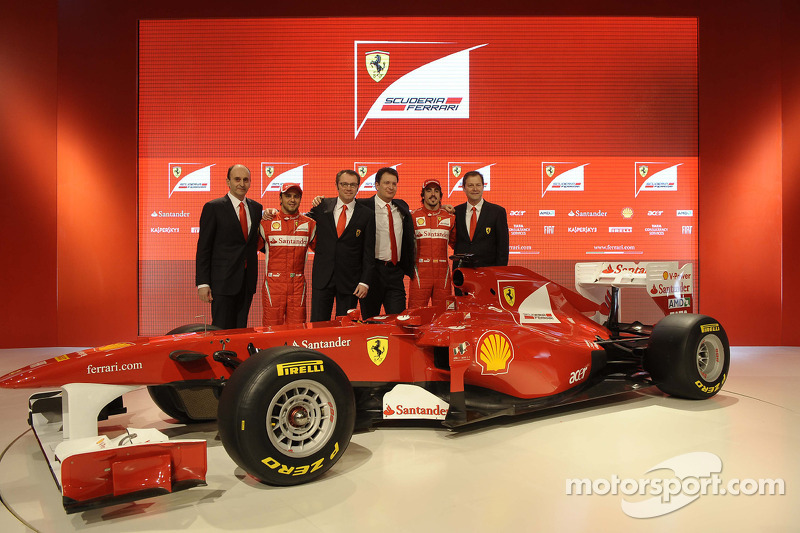 Luca Marmorini, Felipe Massa, Stefano Domenicali, Nikolas Tombazis, Fernando Alonso, Aldo Costa
