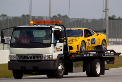 Ferrari F430 Challenge on a flatbed truck