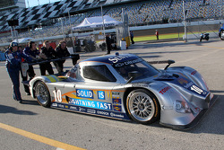 #10 SunTrust Racing Chevrolet-Dallara pushed to the garage