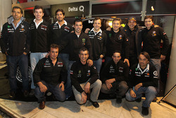 Delta Q BMW X-Raid presentation: Stéphane Peterhansel and Jean-Paul Cottret, Ricardo Leal dos Santos and Paulo Fiuza with their team