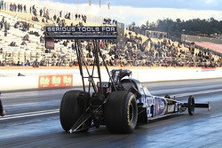 Brandon Bernstein aboard his Matco Tools Top Fuel Dragster