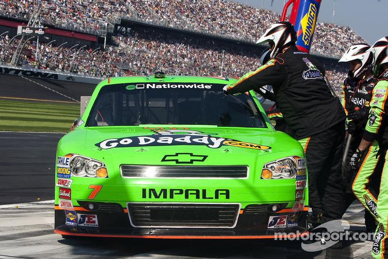 Danica Patrick, JR Motorsport Chevrolet, pitsop