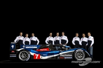 The Peugeot Sport drivers for 2011 with the Peugeot 908