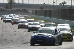 #31 i-MOTO Mazda Speed 3: Mark Pombo, Mathew Pombo leads the ST field on Lap 2