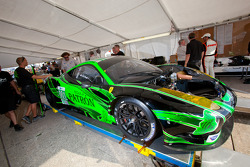 #001 Extreme Speed Motorsports Ferrari F458 Italia at technical inspection