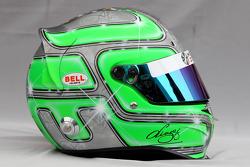 Helmet of Vitantonio Liuzzi, Hispania Racing Team, HRT