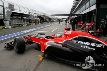 The Marussia Virgin MVR02 lacks downforce