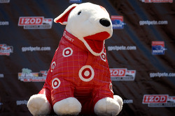 Podium: mascot for Target Chip Ganassi Racing