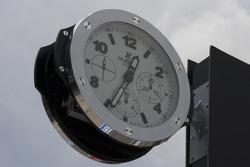 Clock at the pitlane