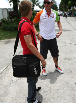 Heikki Kovalainen, Team Lotus and Adrian Sutil, Force India