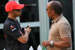 Lewis Hamilton, McLaren Mercedes and Anthony Hamilton, Father of Lewis Hamilton