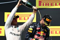 Podium: 2. Nico Rosberg, Mercedes AMG F1 Team; 3. Daniel Ricciardo, Red Bull Racing