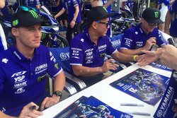 #21 Yamaha Factory Racing Team: Katsuyuki Nakasuga, Pol Espargaro, Alex Lowes signs autographs for the fans