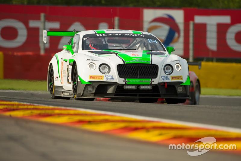 16. #24 Team Parker Racing, Bentley Continental GT3:  Tom Onslow-Cole, Ian Loggie, Callum Macleod, Andy Meyrick
