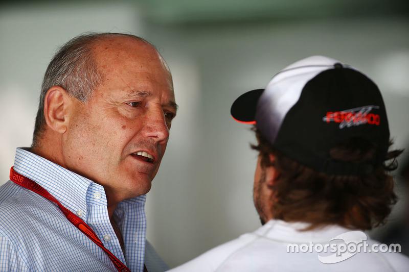 Ron Dennis con Fernando Alonso, McLaren