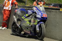 Das Bike von Kenny Roberts, Jr. nach dem Crash