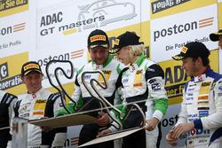 Podio: Vincitori #50 YACO Racing, Audi R8 LMS: Philip Geipel, Rahel Frey