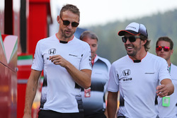 Jenson Button, McLaren Honda and Fernando Alonso, McLaren Honda