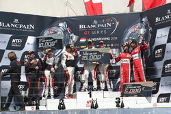 Pro Am podium: winners Christophe Bourret, Jean-Philippe Belloc, Akka ASP, second place Jean-Luc Beaubelique, Morgan Moullin Traffort, AKKA ASP, third place Michael Broniszewski, Giacomo Piccini, Kessel Racing
