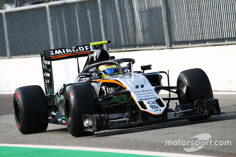 Sergio Perez, Sahara Force India F1 VJM09 con el Halo 2