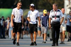 Jenson Button,, McLaren Honda and Fernando Alonso,, McLaren Honda