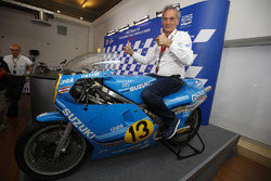 Franco Uncini with his 1982 500cc World Championship winning Suzuki